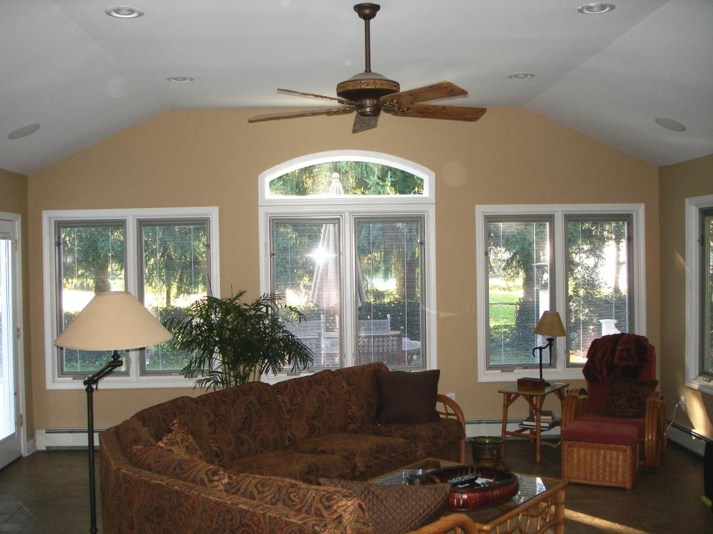 Elegant vaulted ceiling remodeling ideas collections for Best new construction windows