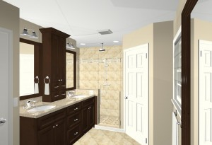 Computer design of proposed master bathroom