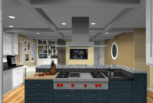 kitchen design with open floor plan to family room (6)