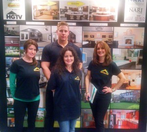 Andrew Parsons and the DBP girls at the Remodeling Home Show