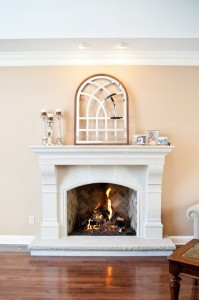 Custom masonry fireplace in great room Ocean County, NJ
