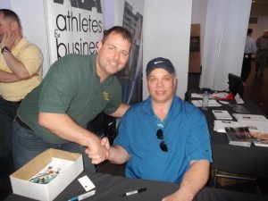 Jason Parsons and Joe Klecko at the home show