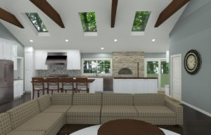 Open Kitchen with Vaulted Ceilings in Colts Neck, NJ CAD (2)-Design Build Pros