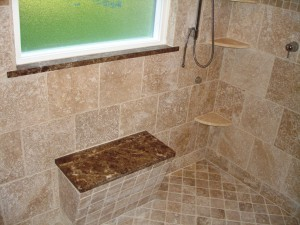 Bench seat in shower - Design Build Pros