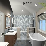 Master Bathroom Remodel Plan 2B