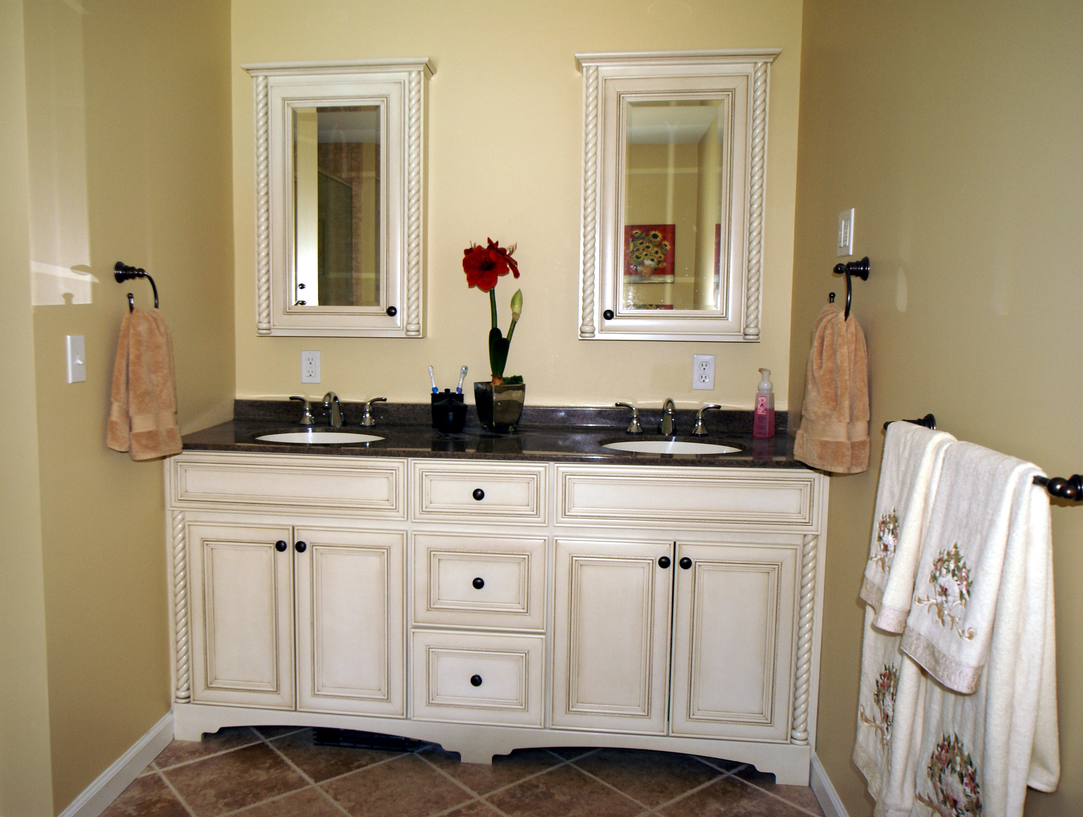 Bathroom counter cabinets