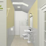 Three Fixture Bathroom Remodel Plan 3A