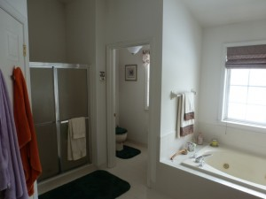 Master bathroom before remodeling