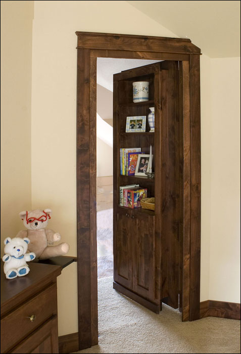 how to build a bookshelf door