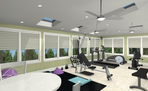 Exercise Room CAD (7)-Design Build Pros