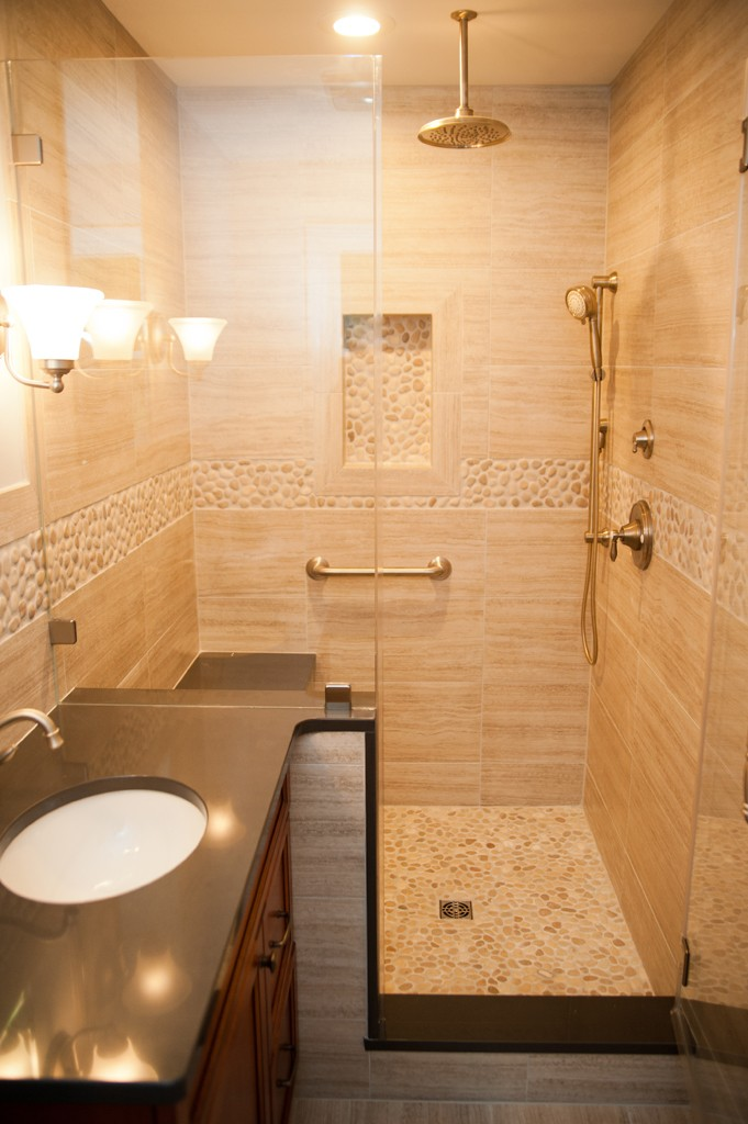 Custom shower options for a bathroom remodel design for Custom bathroom ideas