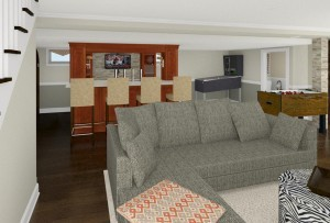 Computer Aided Design of Bar Plan 3 Basement Finishing in Warren NJ (3)-Design Build Pros