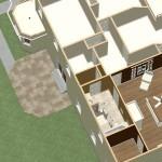 Dollhouse Overview of Kitchen and Master Suite Addition in Franklin Lakes, NJ Plan 1 (3)-Design Build Planners