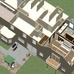 Dollhouse Overview of Kitchen and Master Suite Addition in Franklin Lakes, NJ Plan 3 (3)-Design Build Planners
