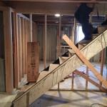 Basement Refinishing in Warren NJ In Progress 1-20-2016 (3)