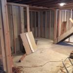 Basement Refinishing in Warren NJ In Progress 1-20-2016 (4)