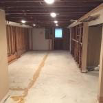 Basement Refinishing in Warren NJ In Progress 10-30-15 (1)