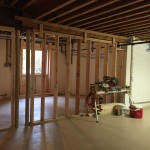 Luxury Basement Remodel in Warren NJ In Progress 11-20-2015 (1)