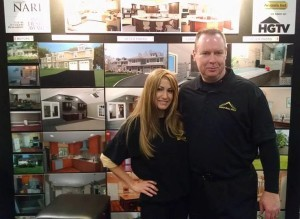 Melissa and Neil Parsons of Design Build Pros at the Somerst NJ Home Show