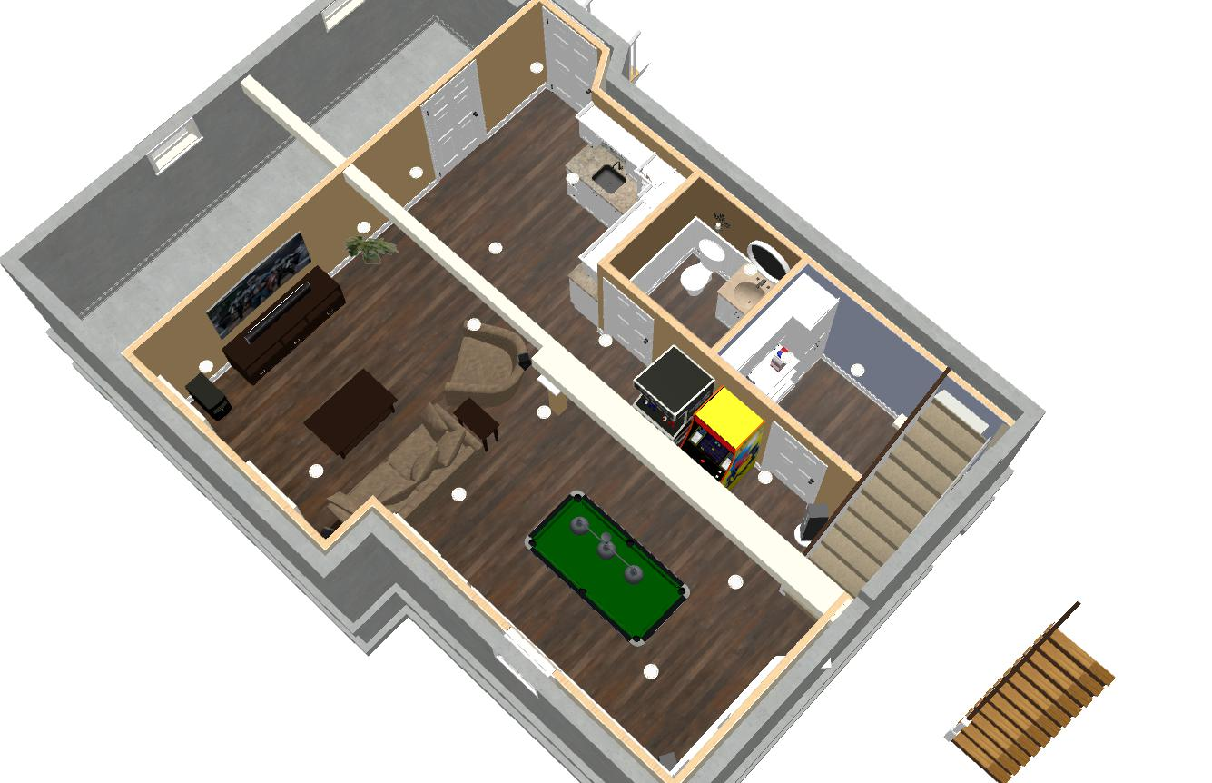 Basement Remodel in Ocean County NJ Dollhouse Overivew (1)-Design Build Planners  sc 1 st  Design Build Pros & Basement Remodel in Ocean County NJ - Design Build Planners
