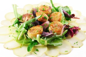 Spicy Scallop Salad recipe from Organic Gurlz Gardens Indiana