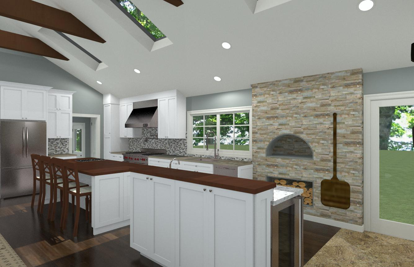 Kitchen With Vaulted Ceilings Open And Vaulted Kitchen In Colts Neck Nj Design Build Pros