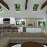Open Kitchen with Vaulted Ceilings in Colts Neck, NJ CAD (2)-Design Build Planners