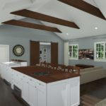 Open Kitchen with Vaulted Ceilings in Colts Neck, NJ CAD (3)-Design Build Pros