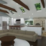 Open Kitchen with Vaulted Ceilings in Colts Neck, NJ CAD (5)-Design Build Planners