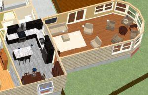 Dollhouse Overview of Kitchen PLUS in Montclair, NJ CAD (1)-Design Build Pros