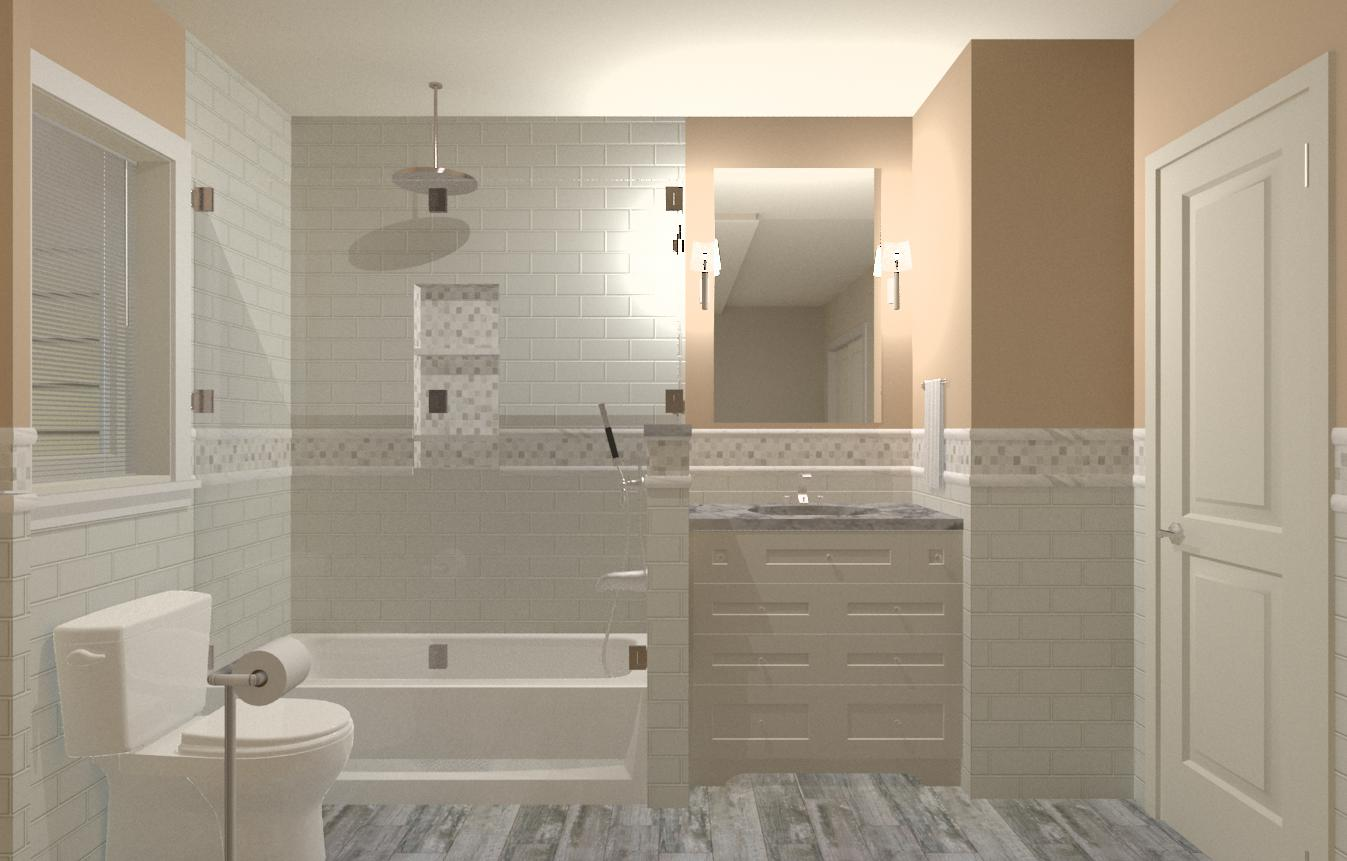 hunterdon county nj hall bathroom plan 1 cad - Bathroom Design Nj