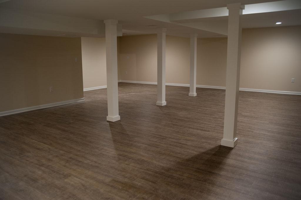 Coretec flooring for your remodeling project design build pros - Simple basement designs ...