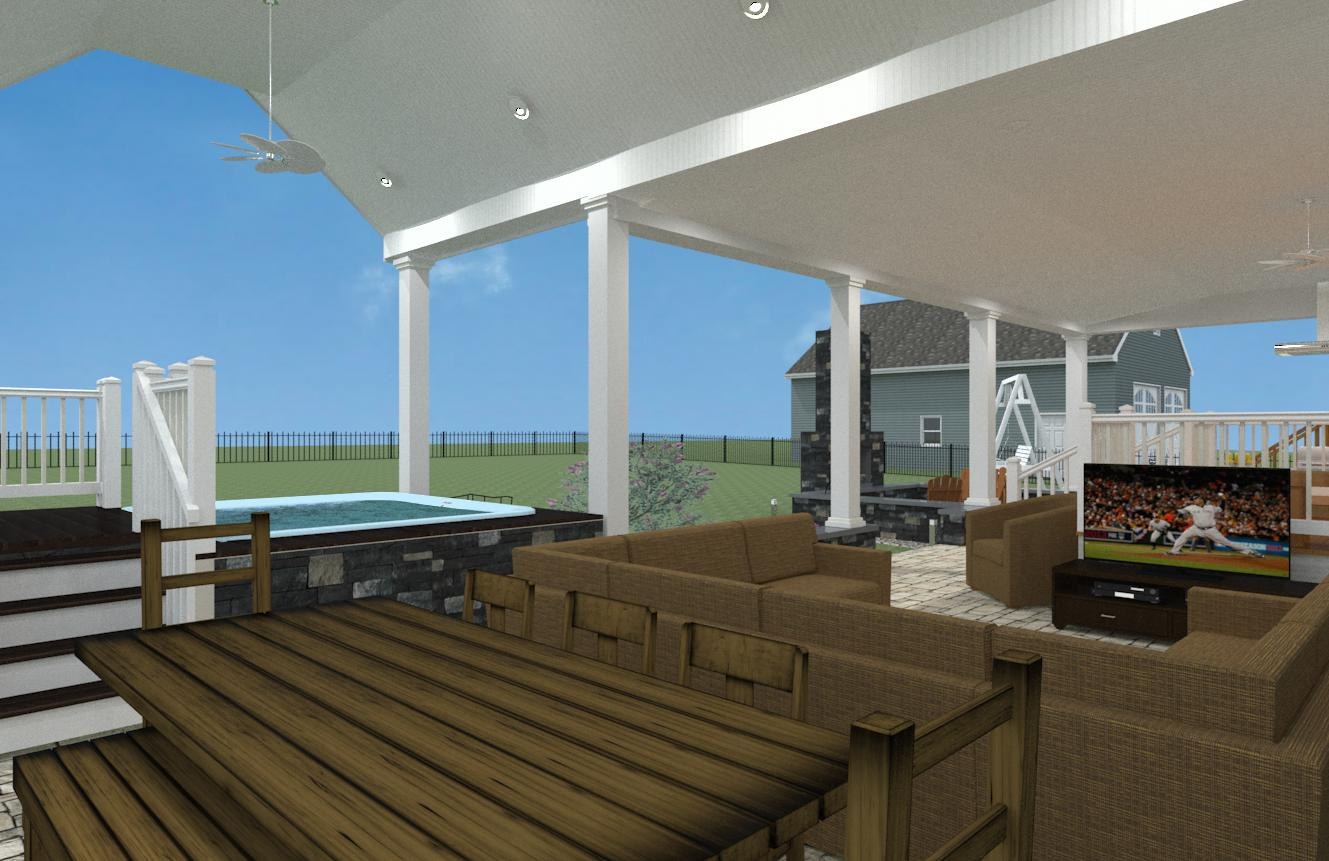 Outdoor Living Space in Monmouth County NJ - Design Build Pros