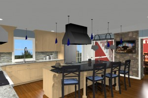 custom kitchen designed for the cooking enthusaist