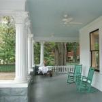Blue porch ceiling
