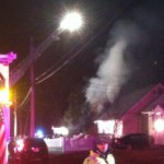 Fire damaged home in Monmouth county, NJ