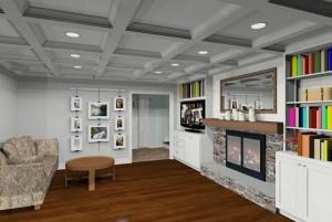 Great room remodeling design in Bridgewater, NJ