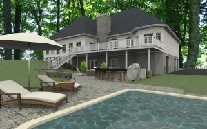Computer Aided Design (CAD) for a Millstone NJ remodeling project ~ Design Build Planners