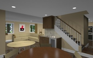basement finishing design in Atlantic Highlands, NJ