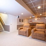 Basement remodel with a theater room
