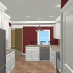 Colonial Home Kitchen Remodel Design 1