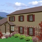 Computer aided design of planned exterior remodel