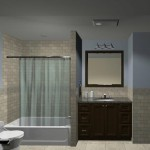 Hall Bathroom Remodeling Design Plan 1