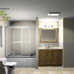 Hall Bathroom Remodeling Design Plan 3