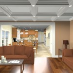 Interior computer design view for a new construction home