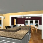 Large Family Kitchen with an Island