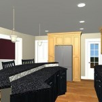 Large Family Kitchen with an Island Design 2
