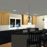 Large Family Kitchen with an Island Design 2b