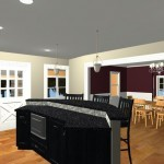 Large Family Kitchen with an Island Design 2c