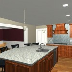 Large Family Kitchen with an Island Design 3a